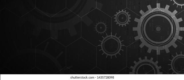 machine technology gears. retro gearwheel mechanism abstract bacground
