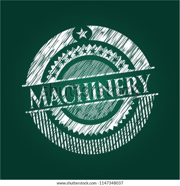 Machinery chalk emblem
