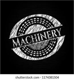Machinery with chalkboard texture