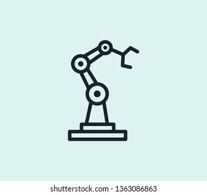 Machinery prod icon line isolated on clean background. Machinery prod icon concept drawing icon line in modern style. Vector illustration for your web mobile logo app UI design.