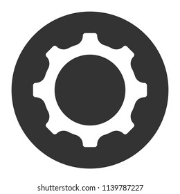 Machinery symbol. Gear icon. Cogwheel icon. Settings sign. Screw nut icon. Screw-nut vector icon. Vector flat sign. Round cog symbol design