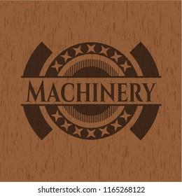 Machinery vintage wooden emblem