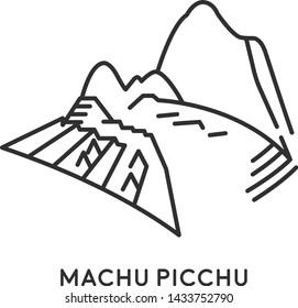 Machu Picchu, Peru. Travel and tourist symbol