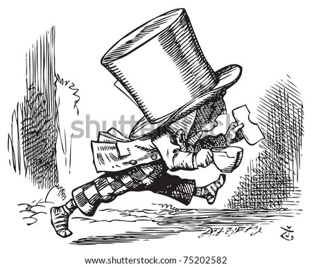 Mad Hatter Just Hastily Leaves Alices Vector de stock (libre de ...