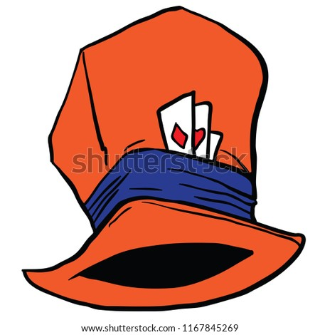 Mad Hatters Hat Cartoon Illustration Isolated Stock Vector Royalty