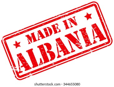 Made in Albania Rubber Stamp