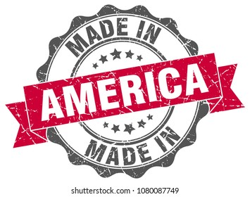 made in America round seal