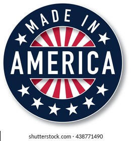 Made in America vector. Spot colors were used.