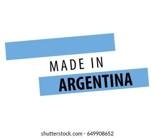 Made in Argentina Flag Design.