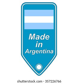 Made in Argentina icon on white. Vector illustration.