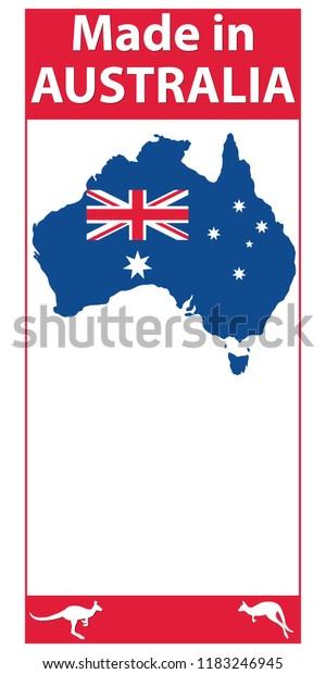 Free Map Of Australia To Print.Made Australia Label Print Australian Map Stock Vector Royalty Free