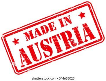 Made in Austria Rubber Stamp