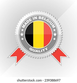 Made in Belgium, Flag, Seal, Ribbon Vector Art