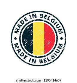 Made in Belgium label illustration
