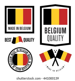 Made in Belgium label set