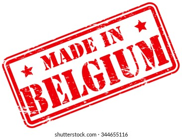Made in Belgium Rubber Stamp