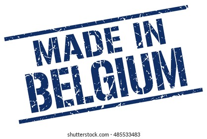 made in Belgium stamp. Belgium grunge vintage isolated square stamp. made in Belgium