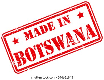 Made in Botswana Rubber Stamp
