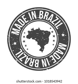 Made in Brazil America Quality Original Stamp Design Vector Art