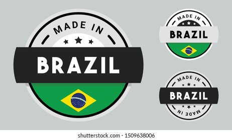 Made in Brazil collection with Brazil flag symbol.