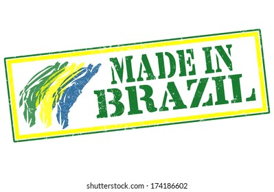 made in Brazil grunge stamp vector illustration