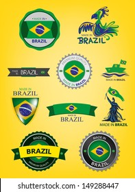 Made in Brazil, Seals, Flags Collection (Vector)