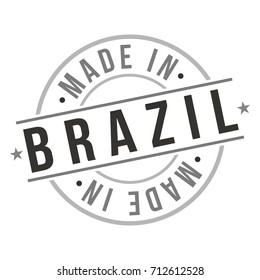 Made In Brazil Stamp Logo Icon Symbol Design
