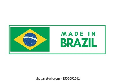 Made in Brazil tag stamp in vector illustration.