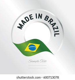 Made in Brazil transparent logo icon silver background