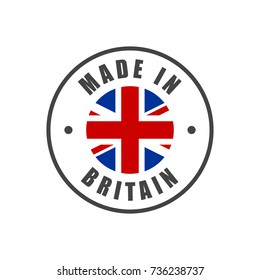 """Made in Britain"" badge with UK flag"
