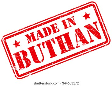 Made in Buthan Rubber Stamp