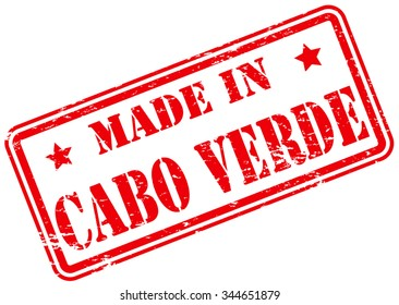 Made in Cabo Verde Rubber Stamp