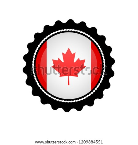 fe55f2830ac Made Canada Button Button Canada Products Stock Vector (Royalty Free ...
