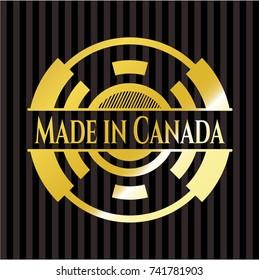 Made in Canada gold emblem
