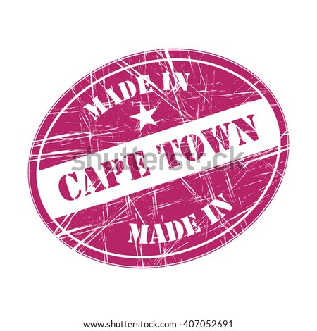 Made In Cape Town Rubber Stamp