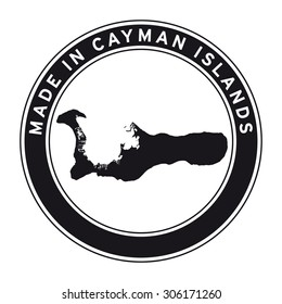 Made in Cayman Islands vector logo sticker button