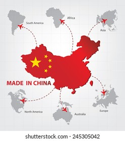 Made in china. Business concept.