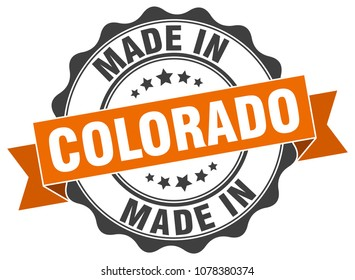 made in Colorado round seal