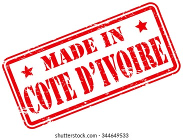 Made in Cote D'Ivoire Rubber Stamp