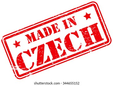 Made in Czech Rubber Stamp