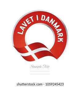 Made in Denmark (Danish language - Lavet i Danmark) stamp logo icon