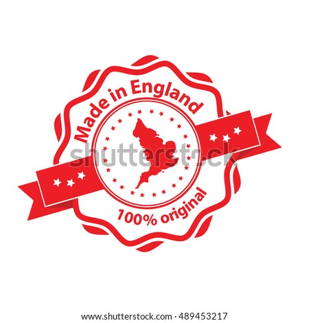 brand new 5cec8 3b3c8 Made in England, 100% original - grunge stamp   label. Print colors (