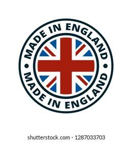 Made in England label illustration