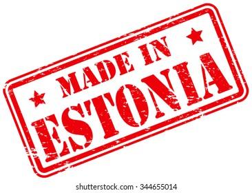 Made in Estonia Rubber Stamp