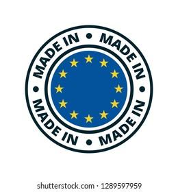 Made in European Union illustration