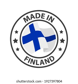 Made in Finland icon. Stamp sticker. Vector illustration