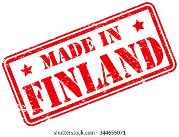 Made in Finland Rubber Stamp