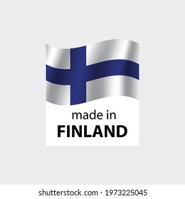 made in Finland vector stamp. badge with Finland  flag