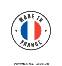 """""""Made in France"""" badge with French flag"""