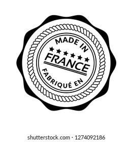made in france emblem, label, badge,sticker, logo. Designed for your web site design, logo, app, UI. fabrique en